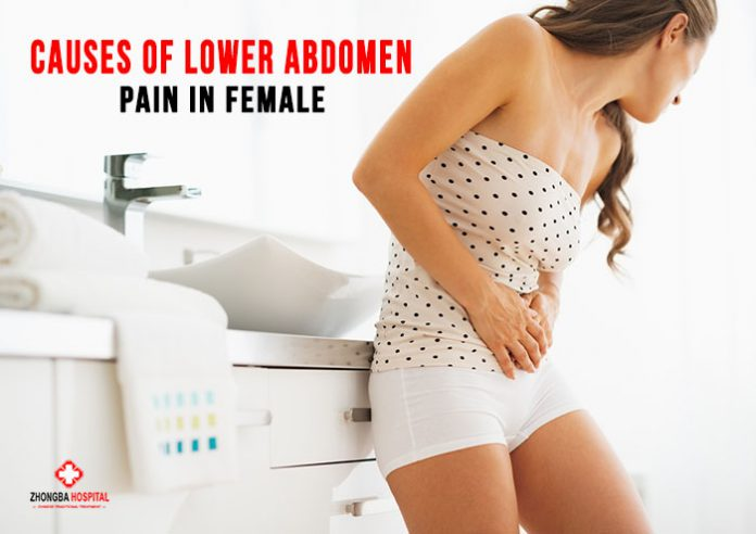 Causes of lower abdominal pain in females